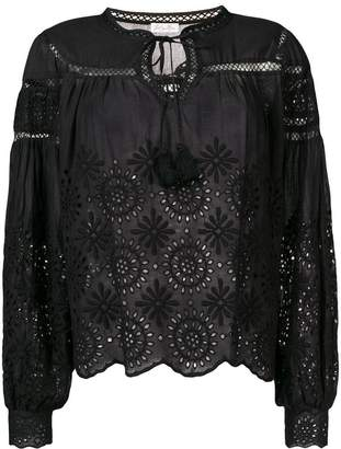 LoveShackFancy Love Shack Fancy lace embroidered blouse