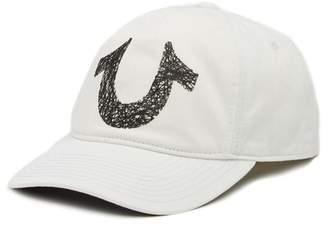 True Religion Logo Applique Baseball Cap
