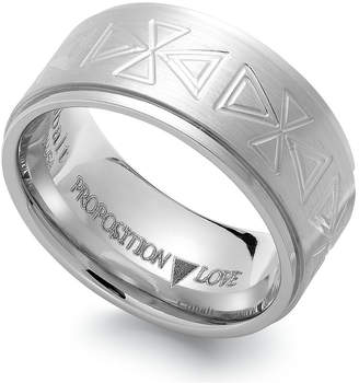 Proposition Love Cobalt Triangle Motif Wedding Band