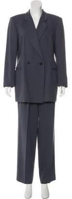 Giorgio Armani Wool High-Rise Pantsuit
