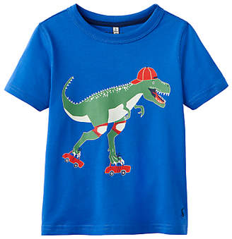 Joules Little Joule Boys' Ray Dinosaur T-Shirt, Blue