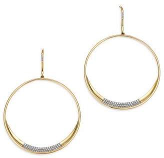 Bloomingdale's Pavé Diamond Circle Drop Earrings in 14K Yellow Gold, 0.35 ct. t.w. - 100% Exclusive
