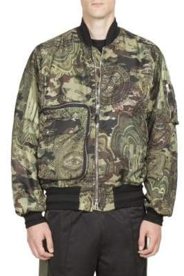 Givenchy Camouflage Printed Bomber Jacket