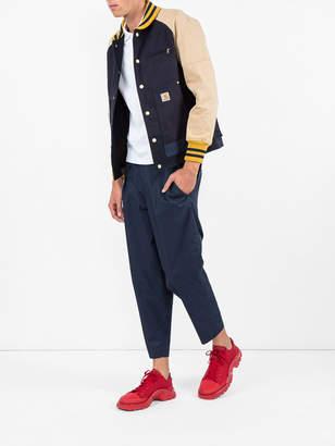 Comme des Garcons Junya Watanabe Man Two tone bomber jacket x carhartt