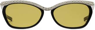 Gucci Rectangular sunglasses with crystals