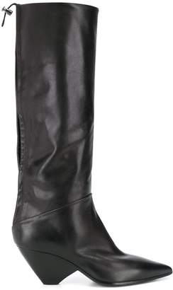 Strategia pointed mid-calf boots