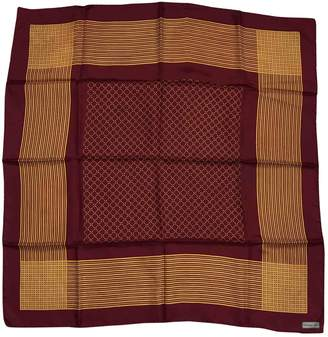 Christian Dior Vintage Burgundy Silk Silk handkerchief