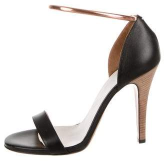 Maison Margiela Leather Ankle-Strap Sandals