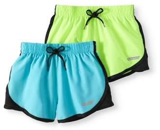 Hind Girls' Active Shorts 2-Pack Set