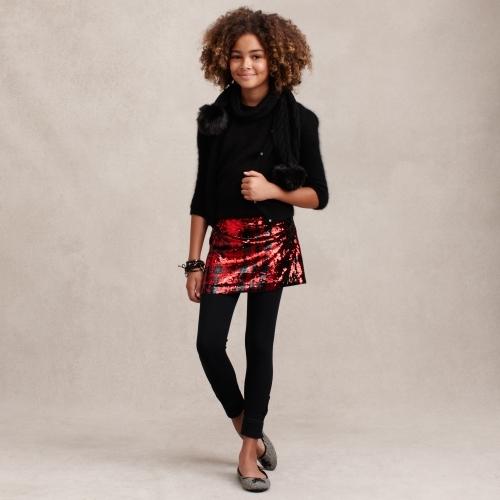 Sequined Miniskirt