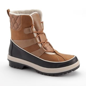 Totes Laurie Quilted Lace-Up Women's Waterproof Winter Boots $89.99 thestylecure.com
