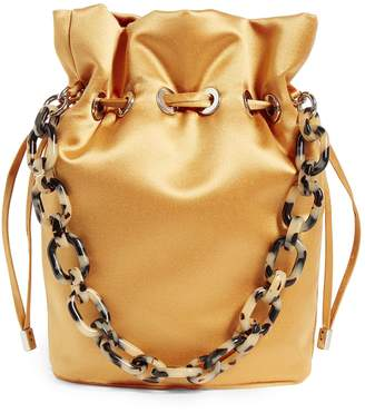 Edie Parker Satin Shorty Bucket Bag
