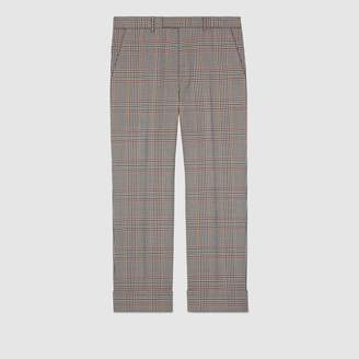 Gucci Tailored retro check wool pant