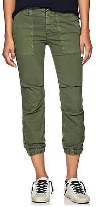Nili Lotan Women's Striped Stretch-Cotton Crop French Military Pants - Camo