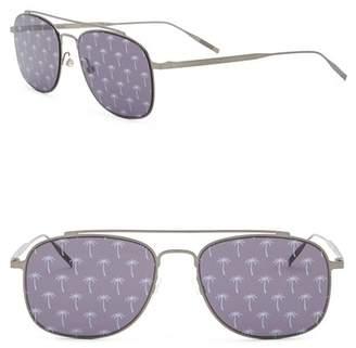 Tomas Maier 53mm Printed Navigator Sunglasses