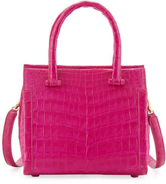 Nancy Gonzalez Small Double-Handle Crocodile Handbag