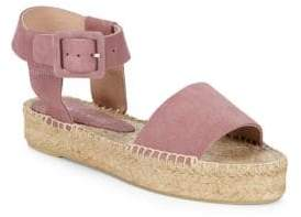 Saks Fifth Avenue Leather Ankle-Strap Platform Espadrilles