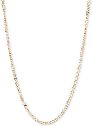 DKNY Gold-Tone Extra-Long Curb Link Chain Necklace, Created for Macy's