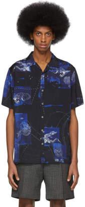 Lanvin Blue Bowling Shirt