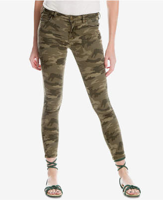 Max Studio London Camouflage Frayed-Hem Skinny Jeans, Created for Macy's