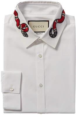 Gucci Duke Snake Dress Shirt