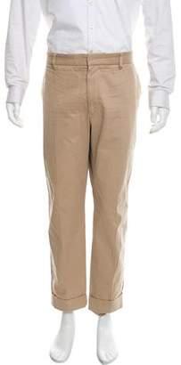 Gucci Cropped Web Trim Flat Front Pants