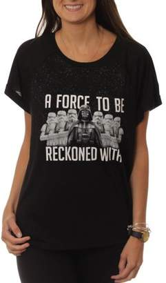 Star Wars Women's A Force to be Reckoned with Hi-Lo Graphic T-Shirt