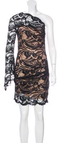 Emilio Pucci Emilio Pucci One-Sleeve Lace Dress