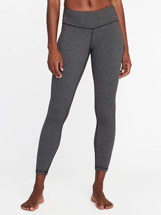 Mid-Rise Herringbone 7/8-Length Leggings for Women