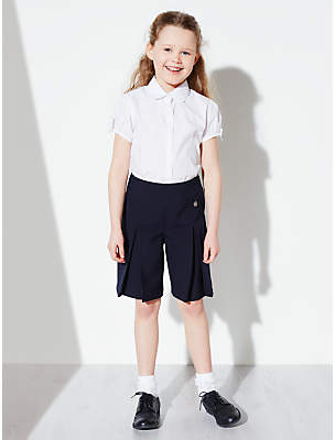 John Lewis Girls' Adjustable Waist School Culottes, Navy
