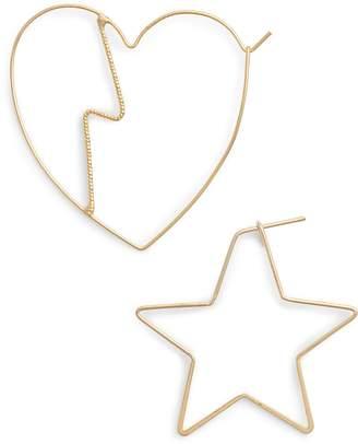 Jules Smith Designs Heartbreak Mismatch Hoop Earrings