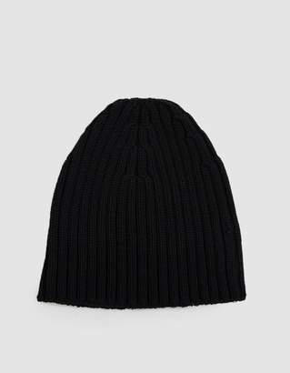 Dries Van Noten Ribbed Wool Beanie in Black