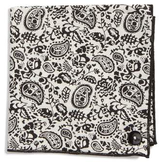Wilson Armstrong & Black Bustles Cotton Pocket Square