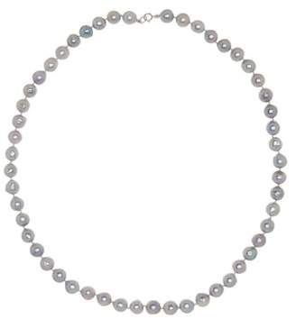 Splendid Pearls 14K White Gold Natural Grey 7-8mm Akoya Pearl Necklace