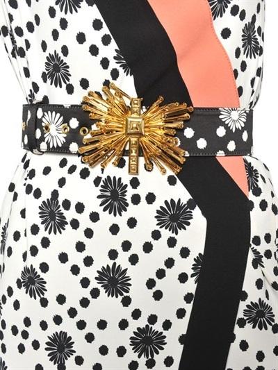 Ungaro Duchesse On Leather High Waisted Belt
