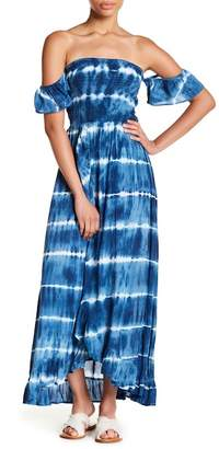 Tiare Hawaii Heath Off-the-Shoulder Maxi Dress