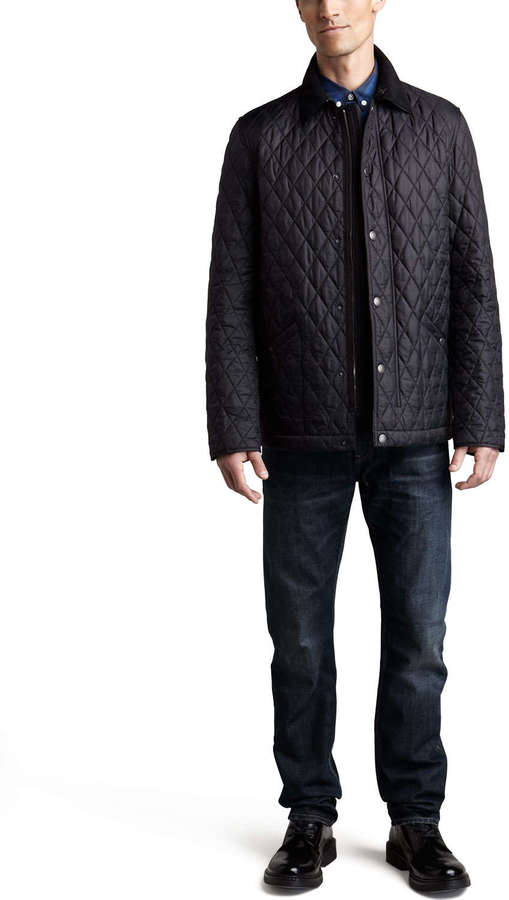 Burberry Cord-Collar Quilted Jacket