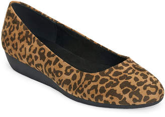 Aerosoles A2 BY A2 by Womens Charcoal Round Toe Ballet Flats