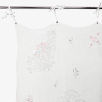 Aster Eka Floral Curtain Panel White