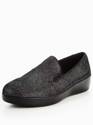 FitFlop Superskate Black Glimmer Shoe