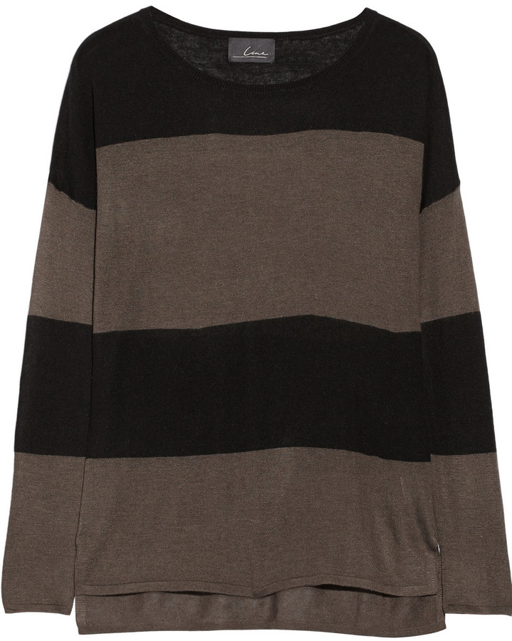 Line The Surrealist striped modal and cashmere-blend sweater