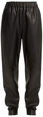 Tibi Tissue Leather Trousers - Womens - Black
