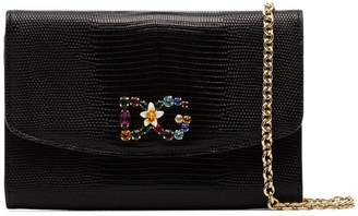 Dolce & Gabbana black leather purse