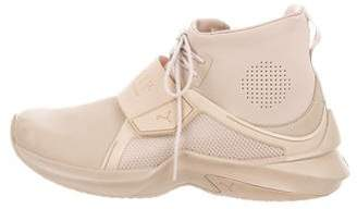 FENTY PUMA by Rihanna Leather High-Top Sneakers