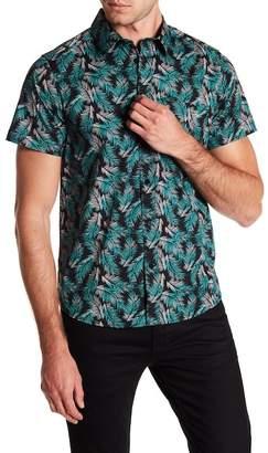 Wellington Palm Tree Print Short Sleeve Shirt