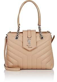 Saint Laurent Women's Monogram Loulou Small Leather Shoulder Bag - Cream