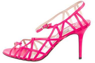 Jimmy Choo Neon Leather Strap Sandals