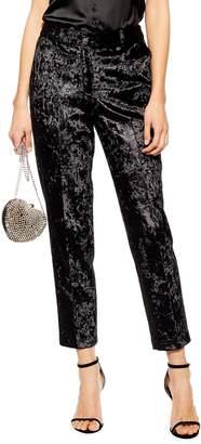 Topshop Bonded Velvet Trousers
