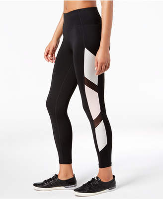 Calvin Klein Metallic Colorblocked High-Waist Leggings
