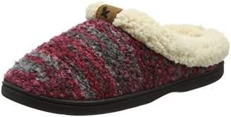 Dearfoams Women's Space-Dye Boucle Clog with Memory Foam Low-Top Slippers,3-4 UK (36-37 EU)